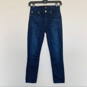 7 For All Mankind High Waist Skinny Jeans Sz 25